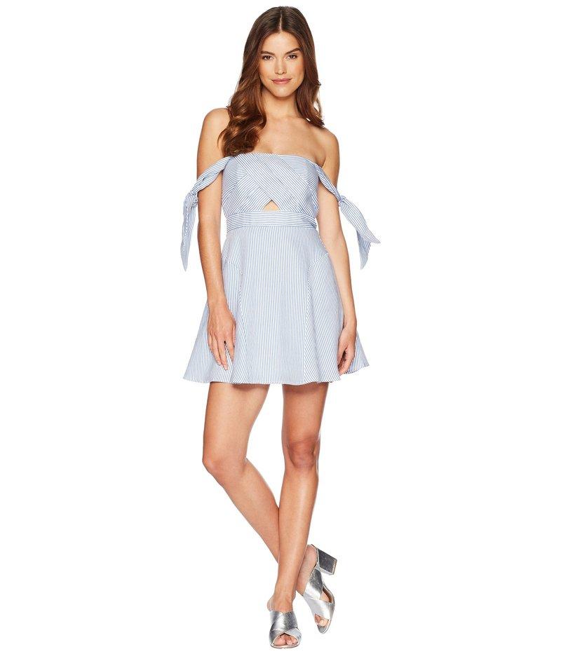 バードット レディース ワンピース トップス Linen Stripe Dress Stripe