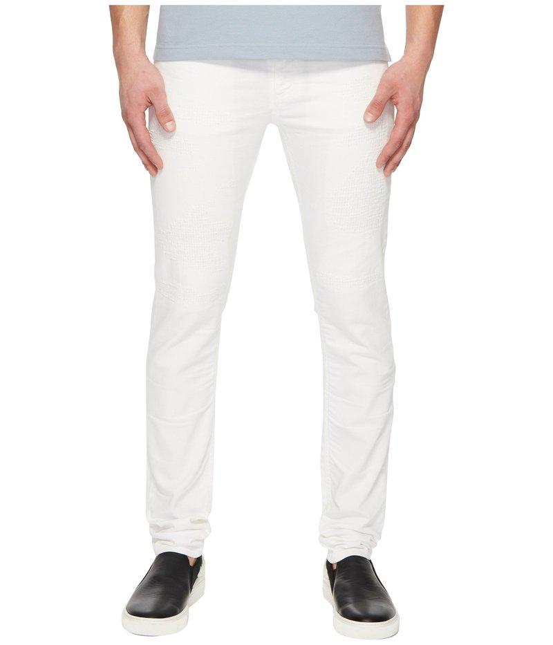 ヴェルサーチ メンズ デニムパンツ ボトムス Distressed Jeans in White White