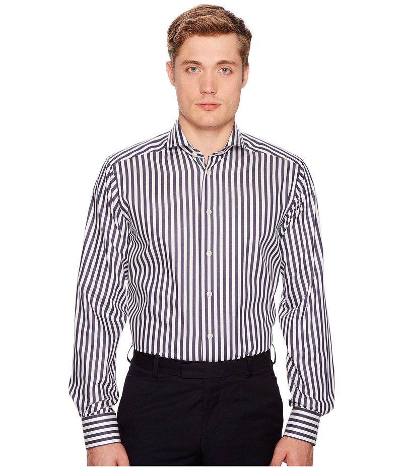 エトン メンズ シャツ トップス Contemporary Fit Bold Stripe Shirt White/Blue