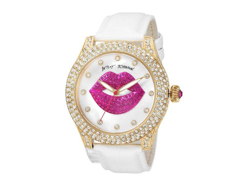 ベッツィジョンソン レディース 腕時計 アクセサリー BJ00019-72 - Crystal Lips Strap White