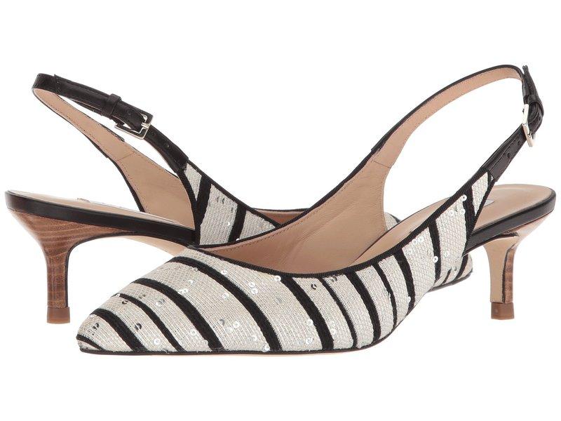 エルケーベネット レディース ヒール シューズ Ava Black/White Sequin Striped Jacquard