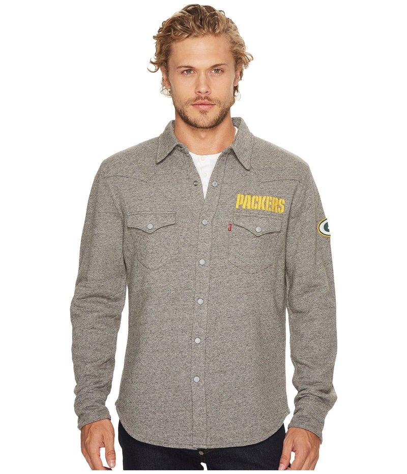リーバイス メンズ パーカー・スウェット アウター Packers NFL Western Sweatshirt Heather Grey