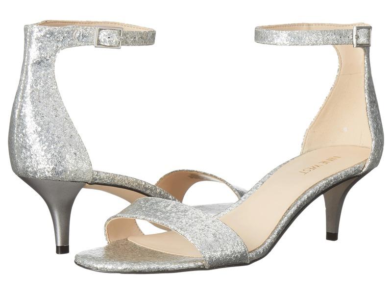ナインウェスト レディース サンダル シューズ Leisa Heel Sandal Silver Synthetic