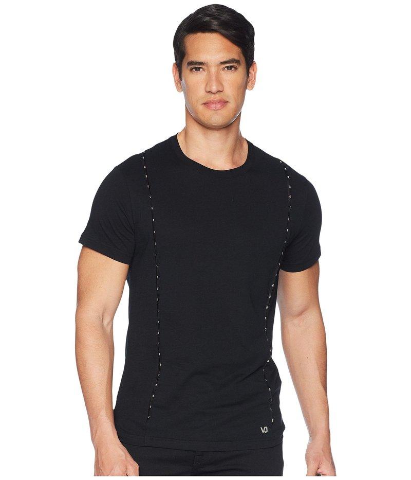 ヴェルサーチ メンズ シャツ トップス T-Shirt with Metal Accents Black