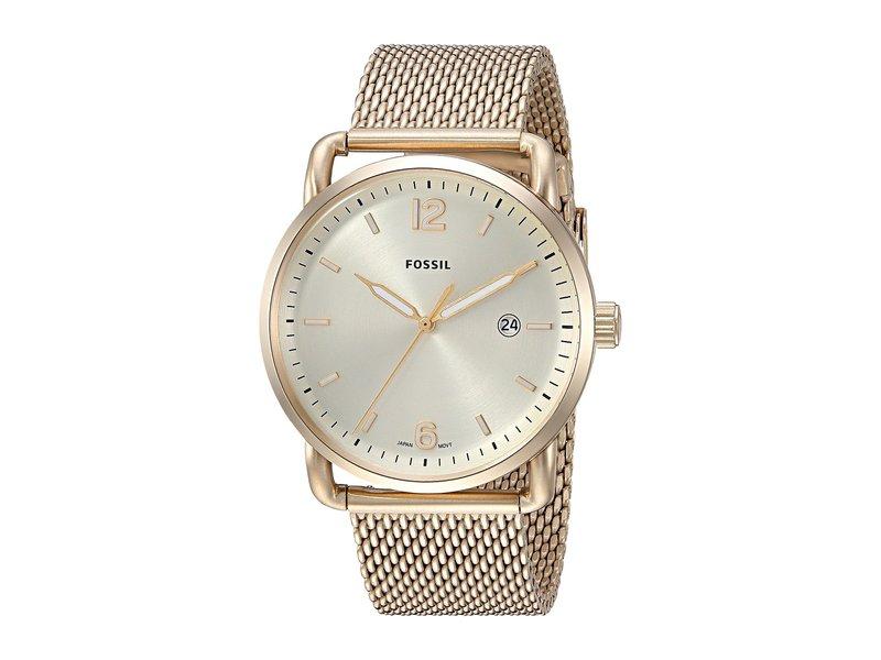 フォッシル メンズ 腕時計 アクセサリー The Commuter 3H Date - FS5420 Gold