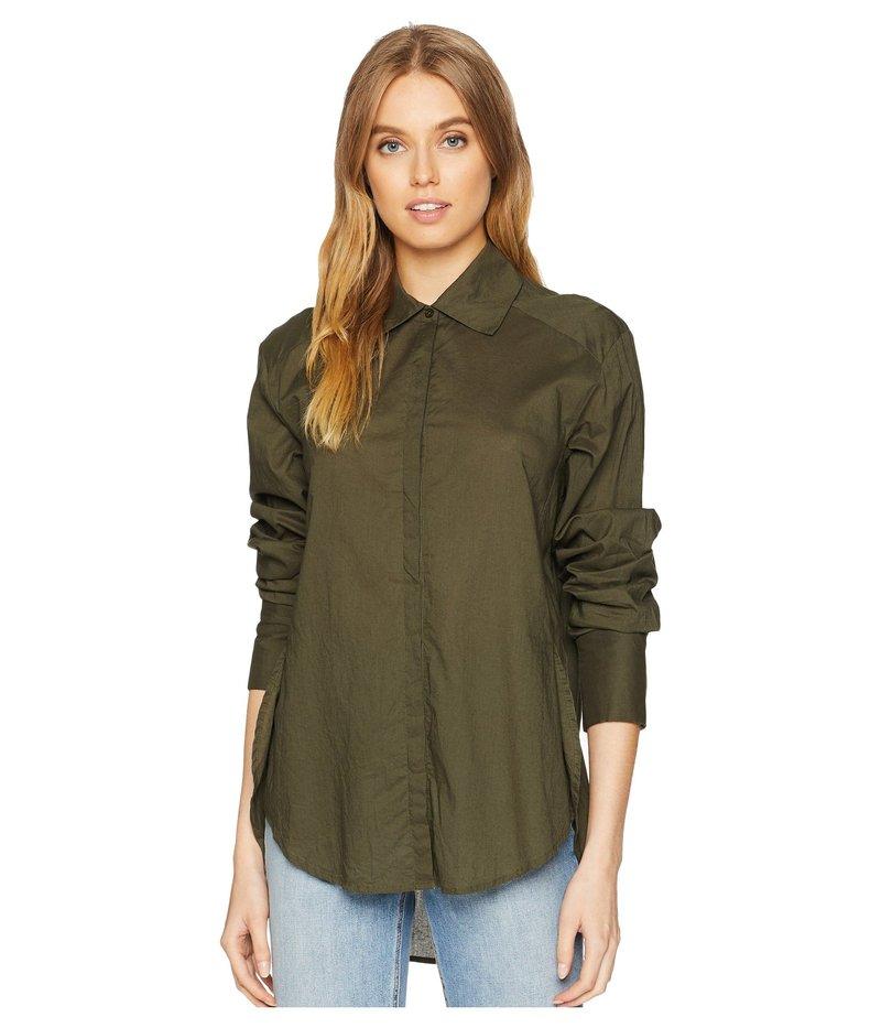 ペイジ レディース シャツ トップス Clemence Shirt with French Cuff Forest Night