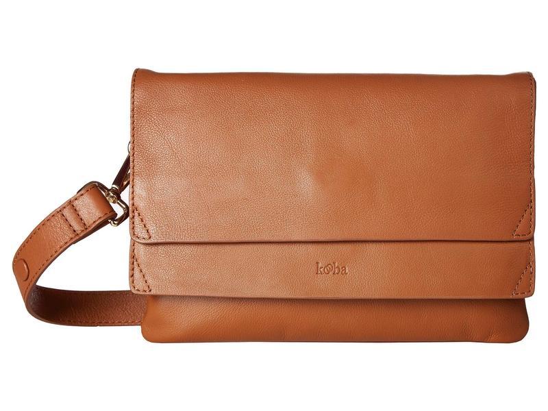 クーバ レディース ハンドバッグ バッグ Hamilton Medium Shoulder Bag Caramel