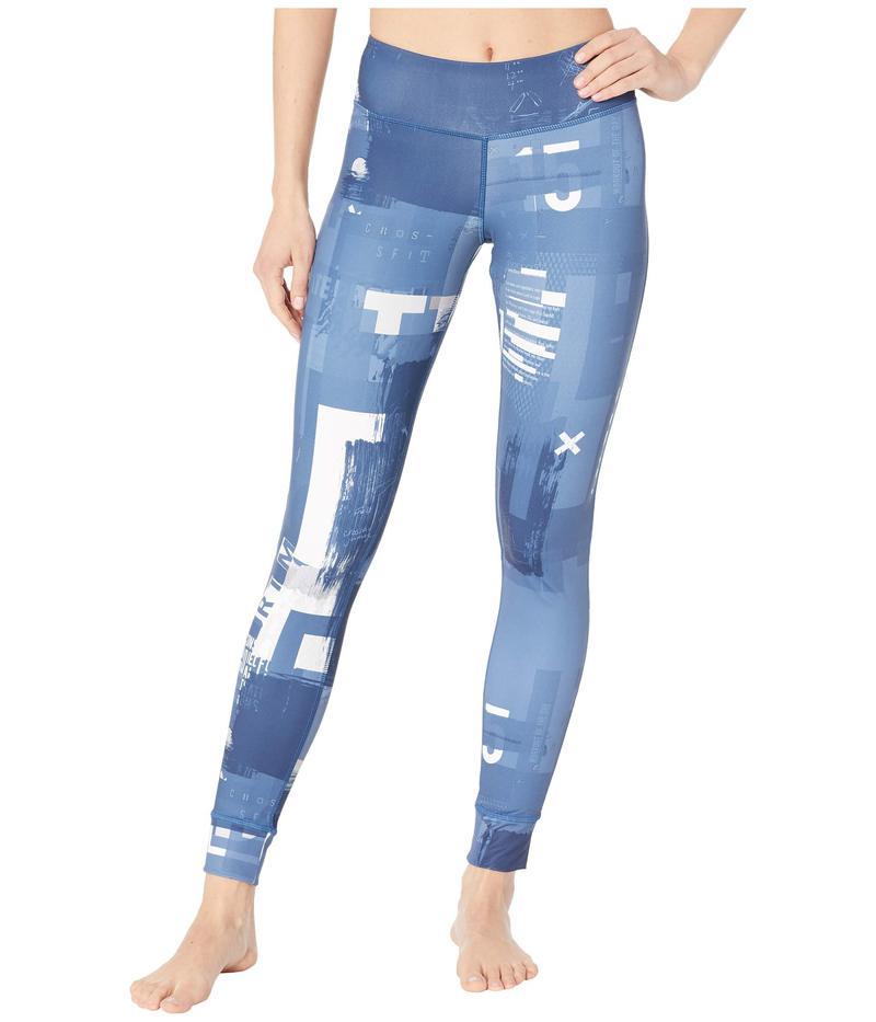 リーボック レディース カジュアルパンツ ボトムス CrossFit Lux Tights - Digital CrossFit Bunker Blue