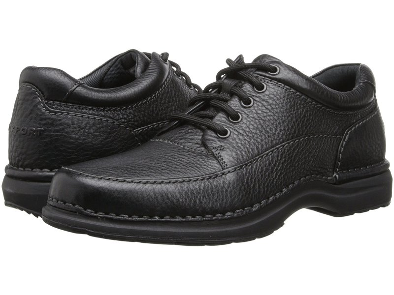 ロックポート メンズ オックスフォード シューズ World Tour Elite Encounter Black Tumbled Leather