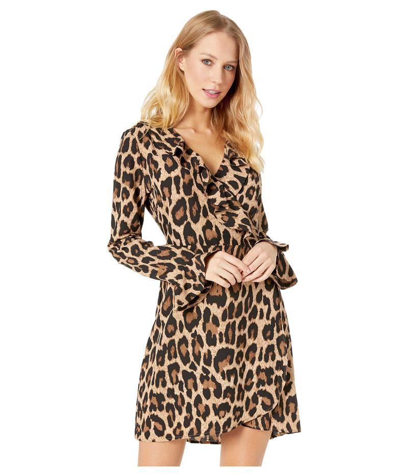ロメオアンドジュリエットクチュール レディース ワンピース トップス Leopard Print Ruffle Dress Brown Combo