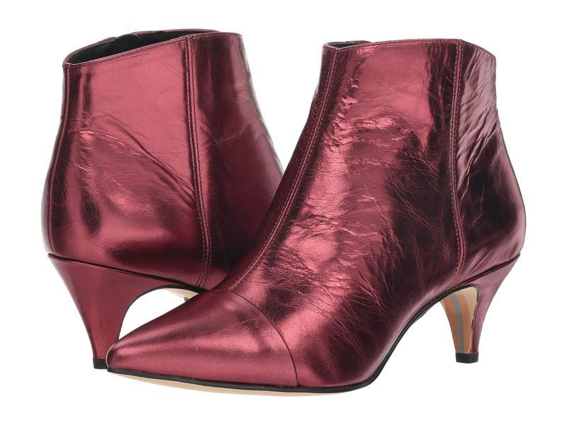 サムエデルマン レディース ブーツ・レインブーツ シューズ Kinzey 2 Dark Cherry Metallic Distressed Leather