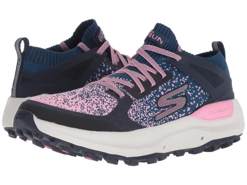 スケッチャーズ レディース スニーカー シューズ Go Run Max Trail 5 Ultra Navy/Pink