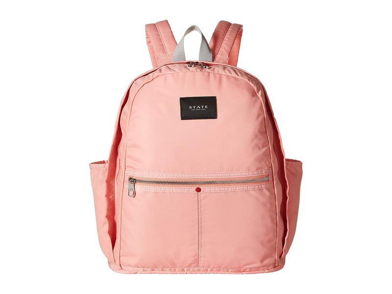 ステイトバッグス レディース バックパック・リュックサック バッグ Nylon Kent Backpack Coral/Almond