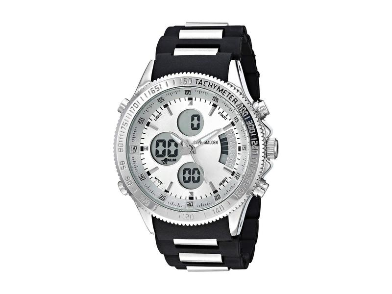 スティーブ マデン メンズ 腕時計 アクセサリー SMW121BK Black/Silver