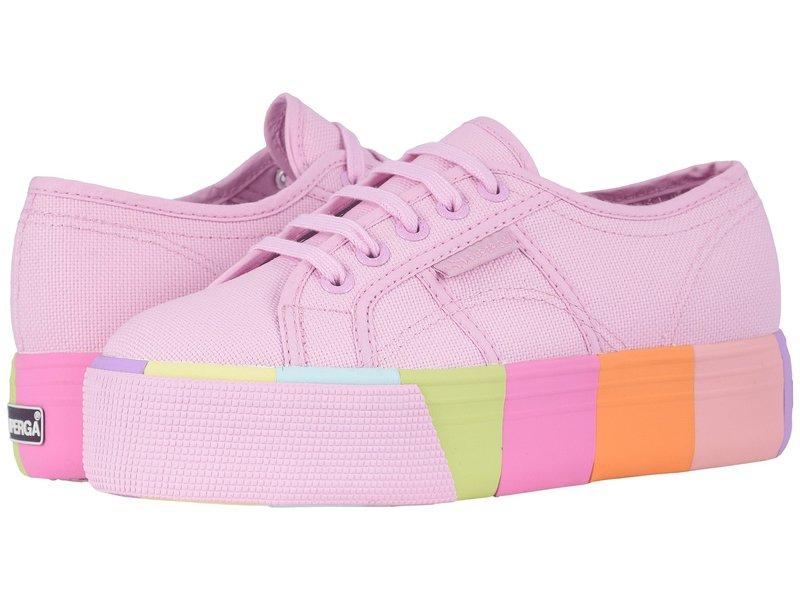 スペルガ レディース スニーカー シューズ 2790 Cotmultifoxing W Platform Sneaker Pink Multi
