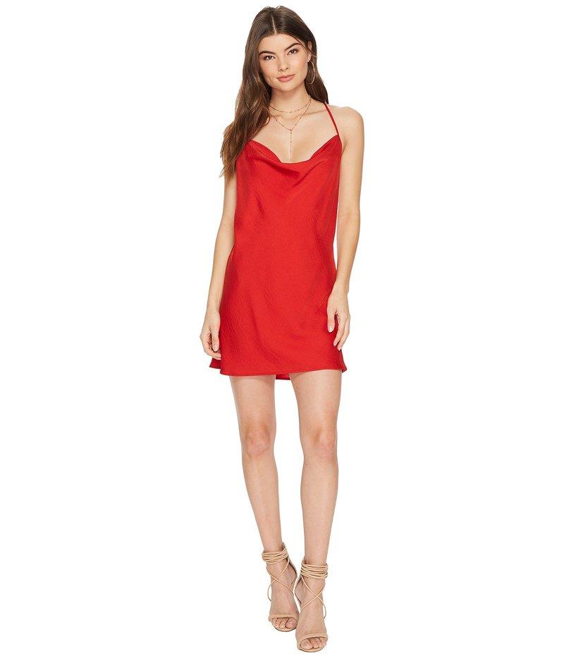 ジェットセットダイアリーズ レディース ワンピース トップス Ellil Cowl Dress Ruby
