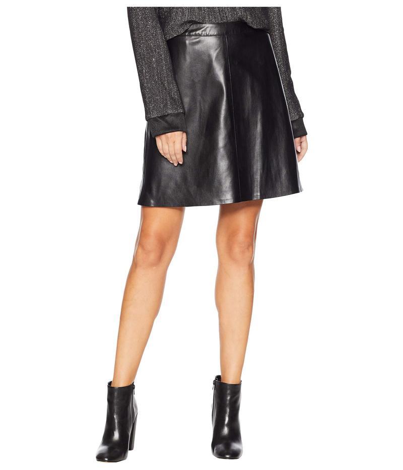 ヴィンスカムート レディース スカート ボトムス Back Zip Pleather Skirt Rich Black