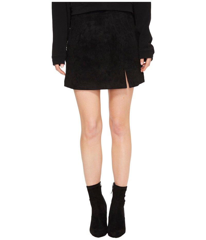 ブランクニューヨーク レディース スカート ボトムス Suede Mini Skirt in Black/Seal The Deal Black/Seal The Deal