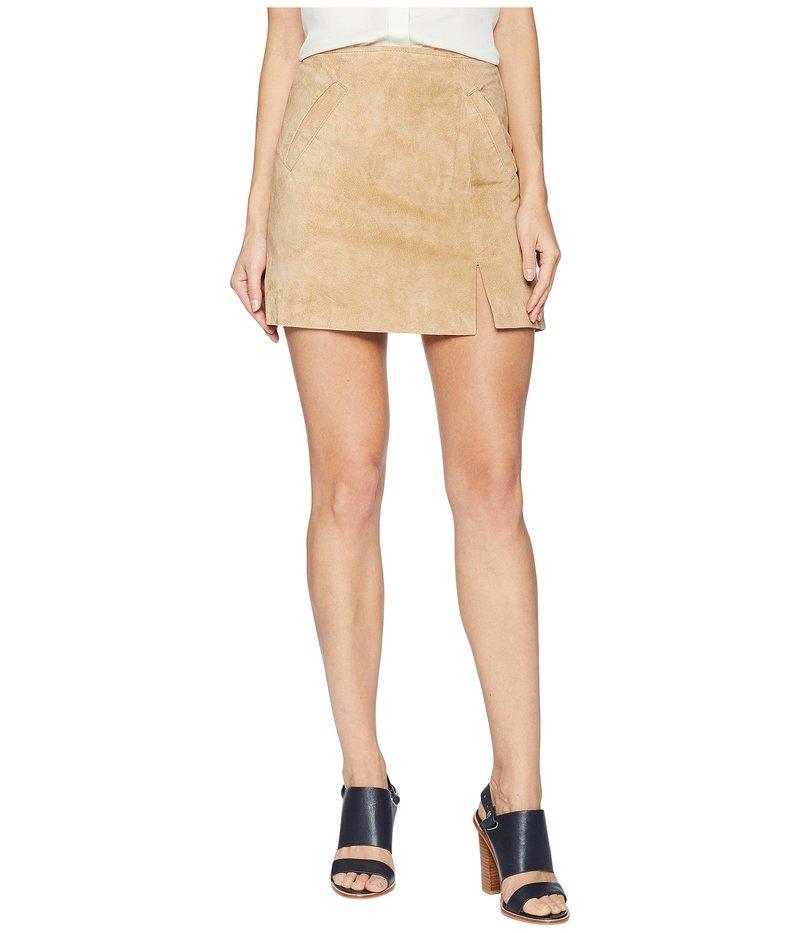 ブランクニューヨーク レディース スカート ボトムス Suede Mini Skirt with Side Slit in Venice Beach Venice Beach