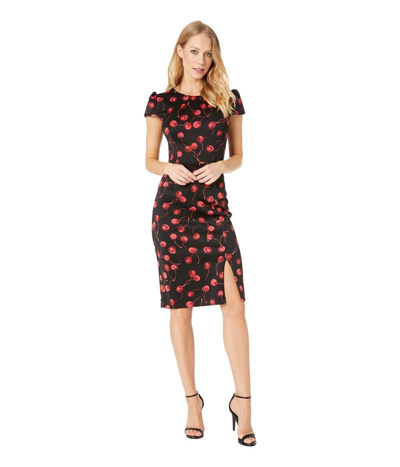 ベッツィジョンソン レディース ワンピース トップス Cherry Print Midi Dress Black/Red