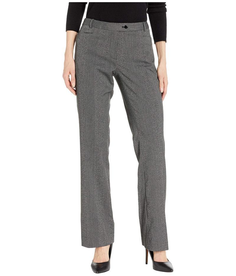 カルバンクライン レディース カジュアルパンツ ボトムス Modern Fit Herringbone Pants Black/Cream