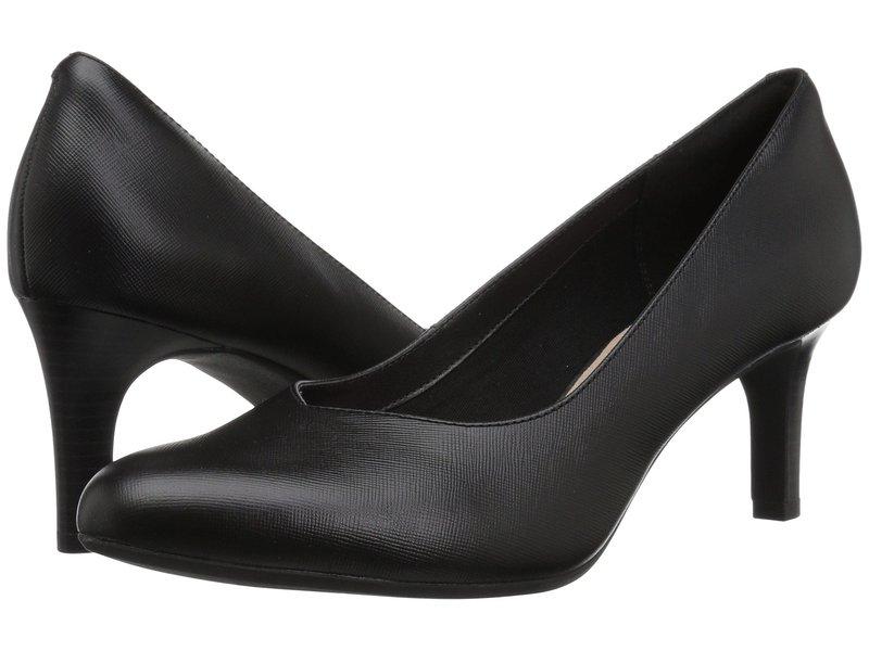 クラークス レディース ヒール シューズ Dancer Nolin Black Embossed Leather