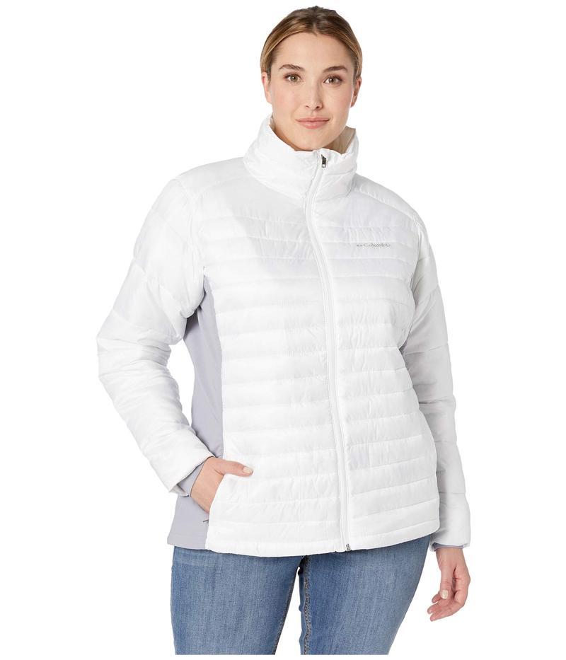 コロンビア レディース コート アウター Plus Size Powder Pillow Hybrid Jacket White/Astral