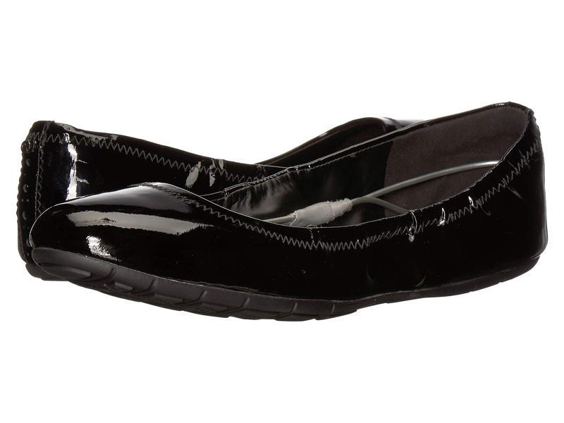 コールハーン レディース サンダル シューズ Zerogrand Ballet Flat Black Patent Leather/Black