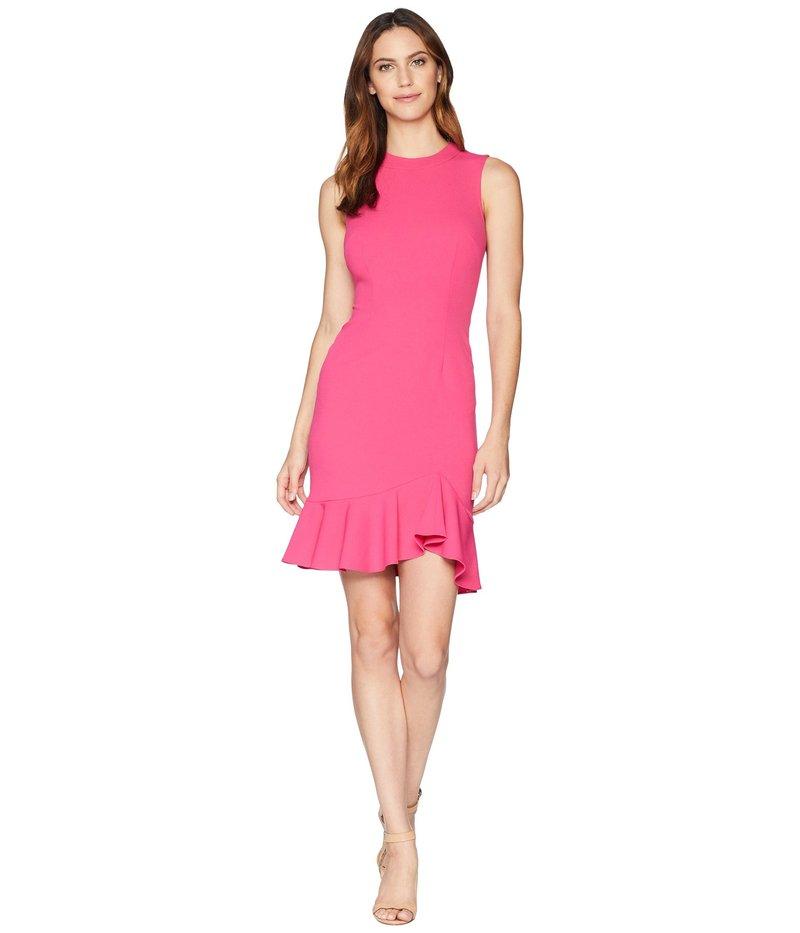 ドナモーガン レディース ワンピース トップス Sleeveless Crepe Dress with Exposed Back Zip Shocking Pink