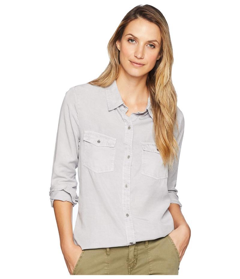 デイランバイトゥルーグリット レディース シャツ トップス Luxe Laundered Tencel Classic Two-Pocket Shirt Light Grey, くまもとけん d8d151e9