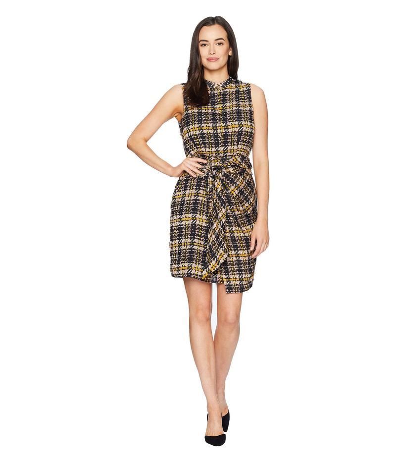 エレントレイシー レディース ワンピース トップス Sleeveless Tie Front Shirtdress Tweed Plaid/Multi