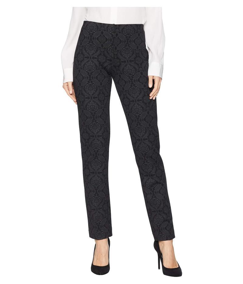 エリオットローレン レディース カジュアルパンツ ボトムス Damask Hidden Elastic Pull-On Printed Ponte Pants Grey/Black