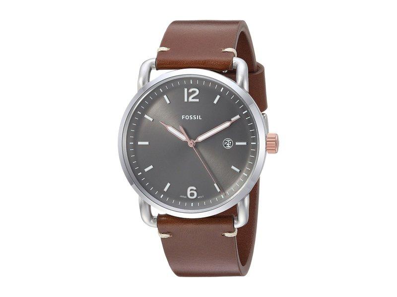 フォッシル メンズ 腕時計 アクセサリー The Commuter 3H Date - FS5417 Brown