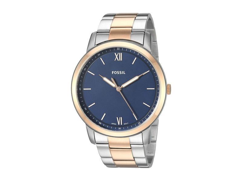 フォッシル メンズ 腕時計 アクセサリー The Minimalist 3H - FS5498 Rose Gold/Silver