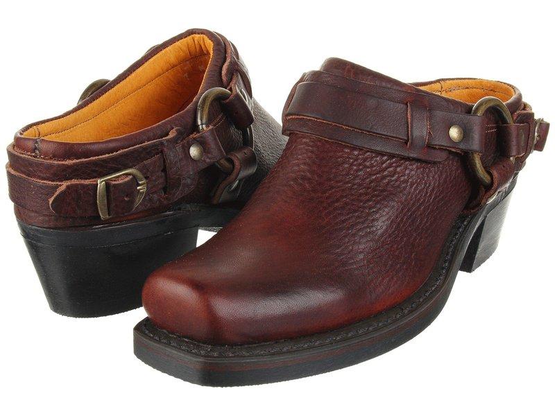 フライ レディース サンダル シューズ Belted Harness Mule Chestnut Leather