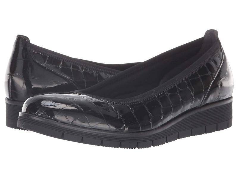 ガボール レディース スリッポン・ローファー シューズ Gabor 95.340 Black Croc Patent