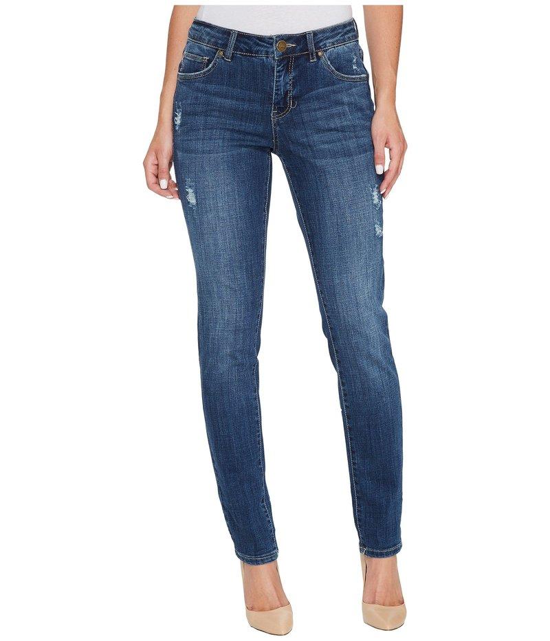 ジャグジーンズ レディース デニムパンツ ボトムス Carter Girlfriend Crosshatch Denim Jeans in Thorne Blue w/ Destruction Thorne Blue