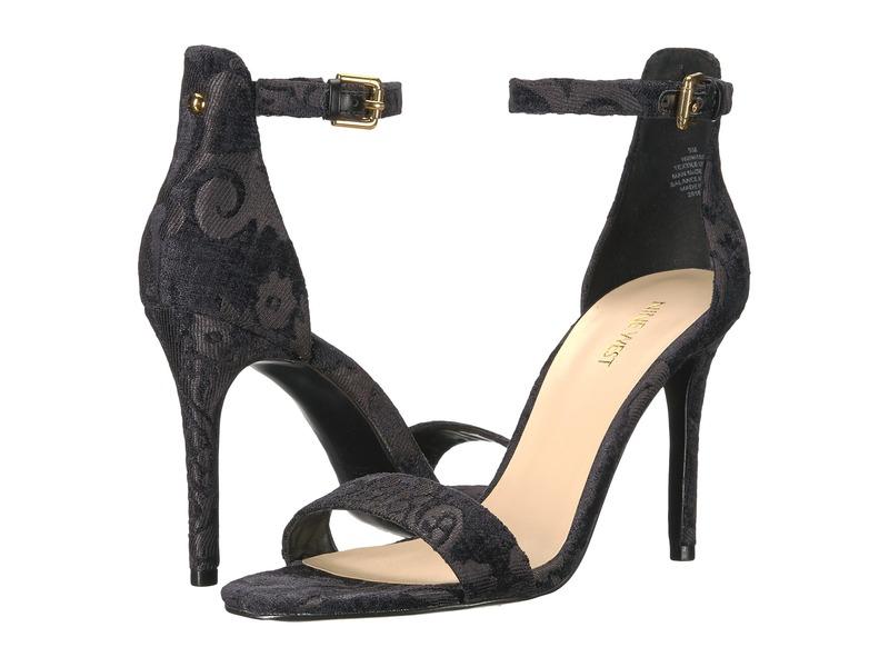 ナインウェスト レディース サンダル シューズ Mana Stiletto Heel Sandal Black Fabric