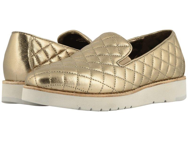 ジョンストンアンドマーフィー レディース スニーカー シューズ Portia Gold Italian Metallic Glove Leather