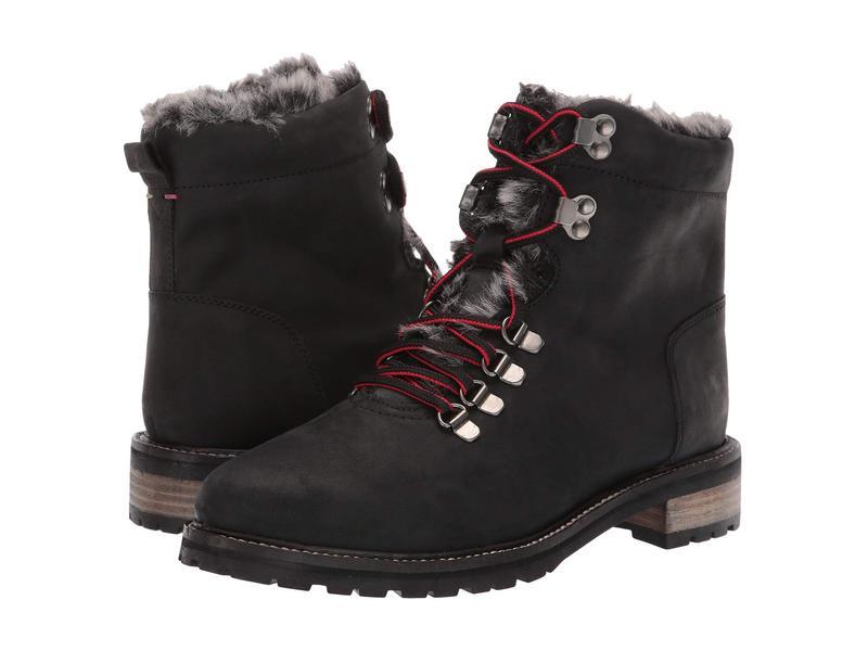 ジュールズ レディース ブーツ・レインブーツ シューズ Leather Hiker Boot Black