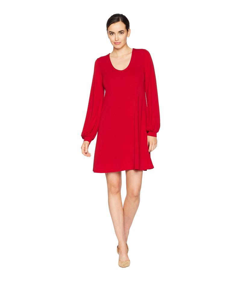 カレンケーン レディース ワンピース トップス Blouson Sleeve Dress Red