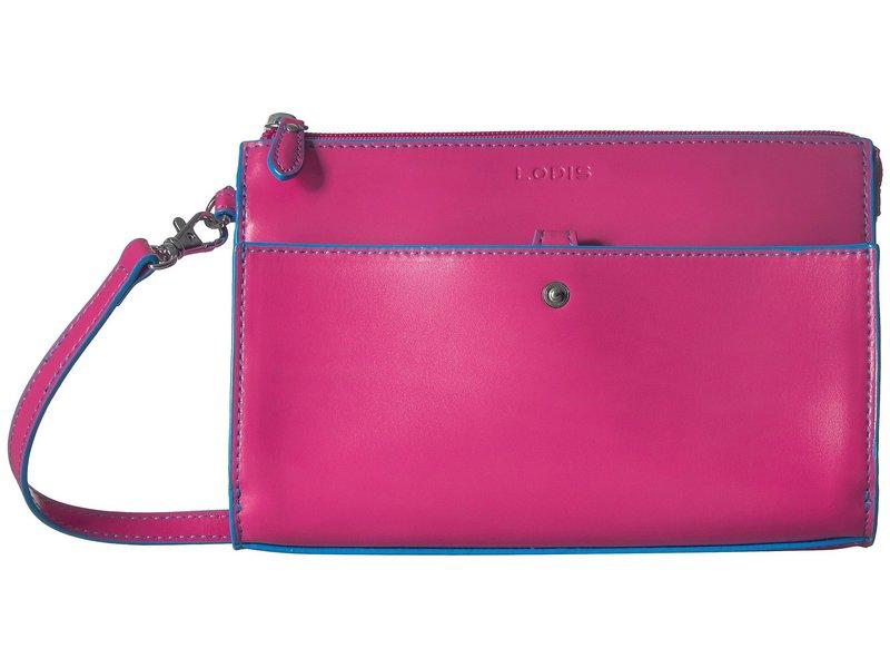 ロディス レディース ハンドバッグ バッグ Audrey RFID Vicky Convertible Crossbody Clutch Hot Pink/Blue