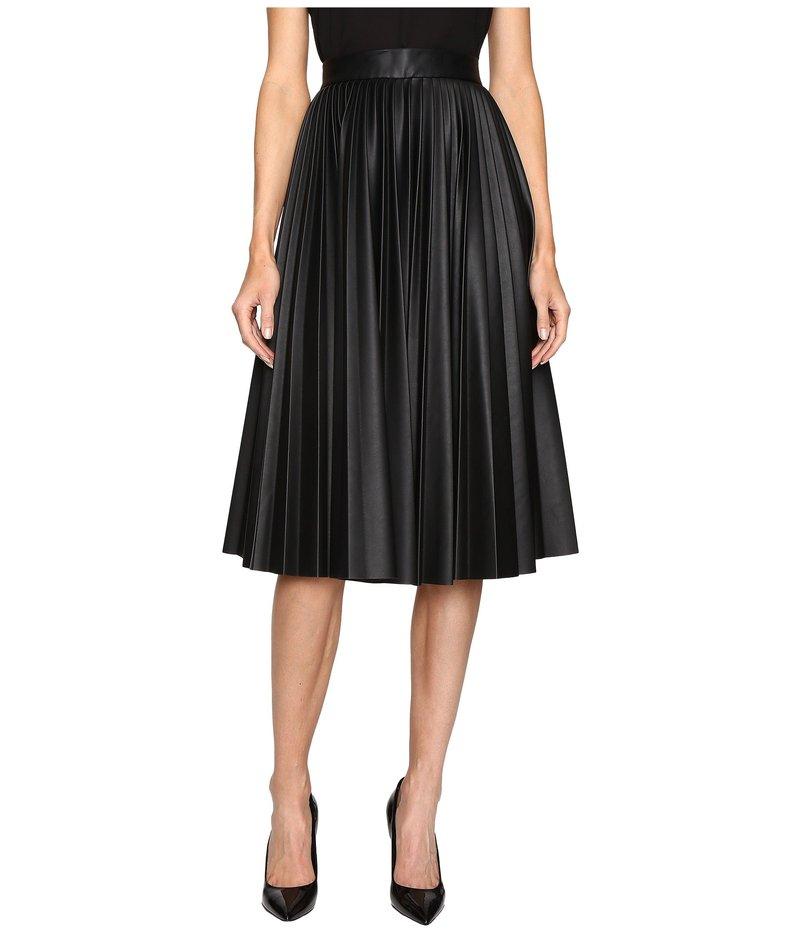 エム ミッソーニ レディース スカート ボトムス Faux Leather Pleated Skirt Black