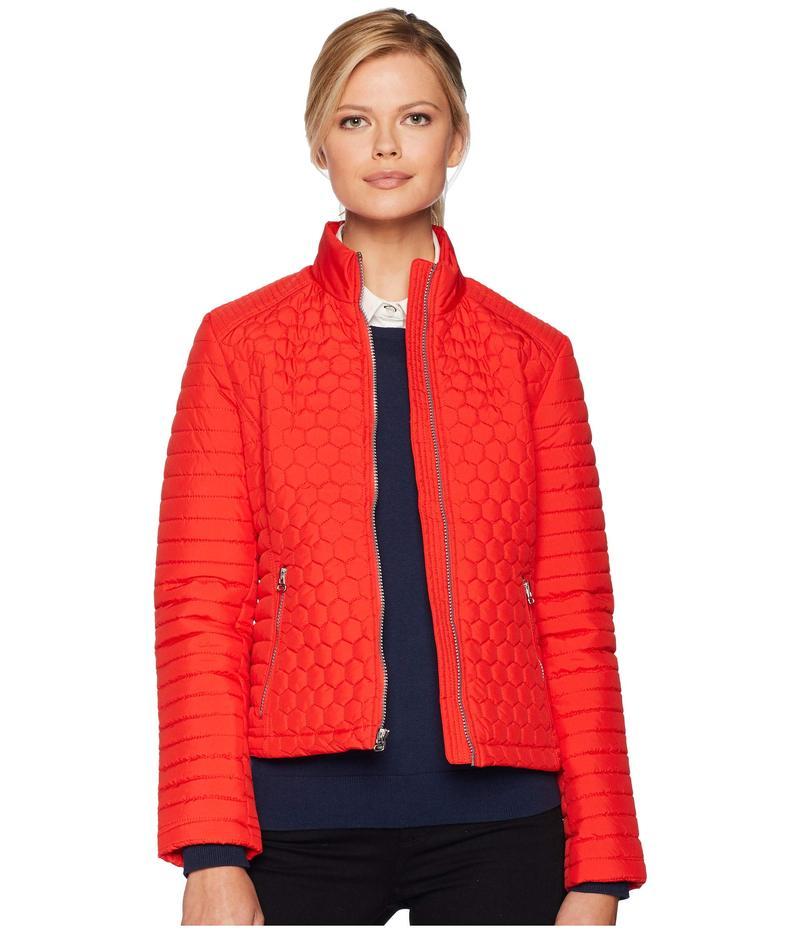 マークニューヨーク レディース コート アウター Linden Honeycomb Mini Quilted Scuba Jacket Red