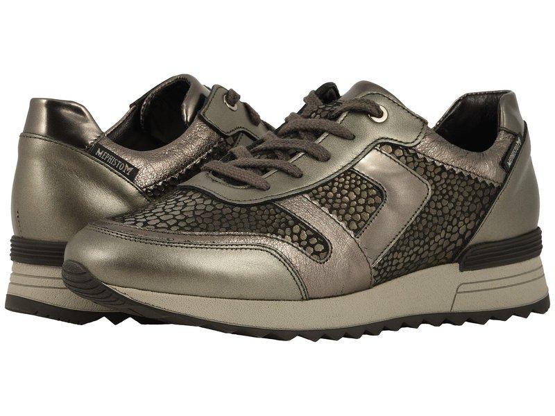 メフィスト レディース スニーカー シューズ Trecy Dark Grey Pearl Calfskin/Bronze Volcano/Grey Borneo/Dark Grey Ma