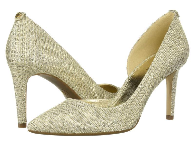 マイケルコース レディース ヒール シューズ Dorothy Flex D'Orsay White/Gold/Champagne