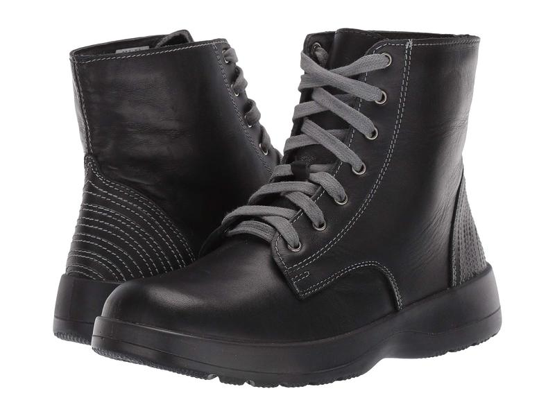 ナオト レディース ブーツ・レインブーツ シューズ Caribou Black Leather Combination