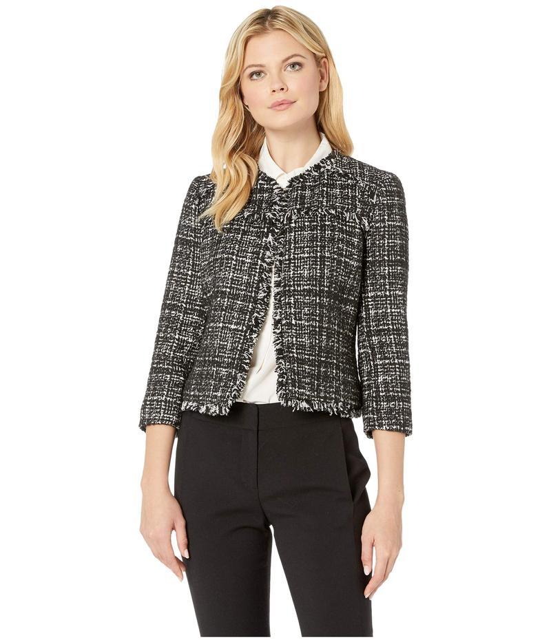 ナインウェスト レディース コート アウター Tweed Kiss Front Jacket Black Multi
