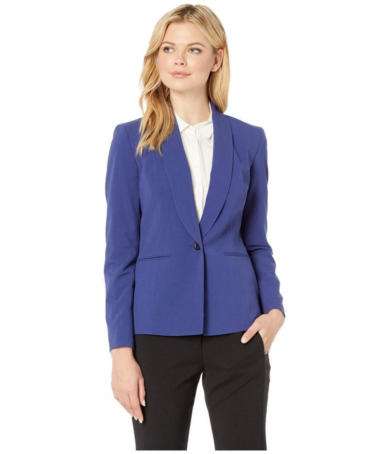 ナインウェスト レディース コート アウター One-Button Shawl Collar Stretch Jacket Nightsky