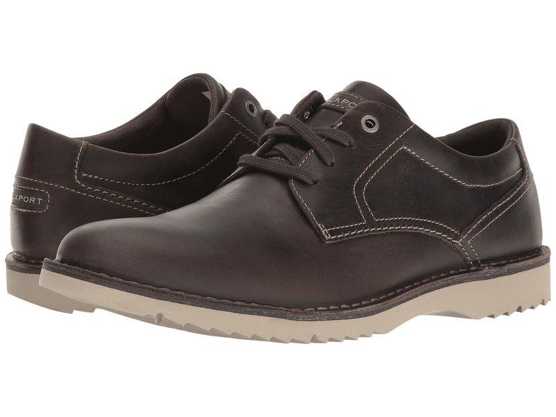ロックポート メンズ オックスフォード シューズ Cabot Plain Toe Grey Leather